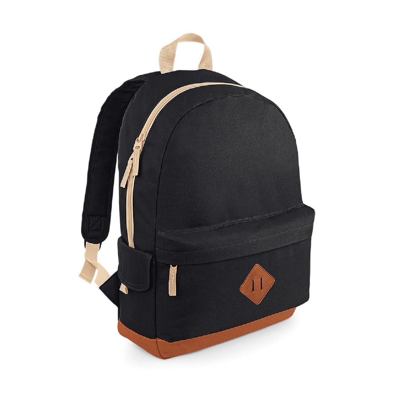 BagBase Unisex Heritage Colours School Backpack Black,Blue,Red,Navy BG825