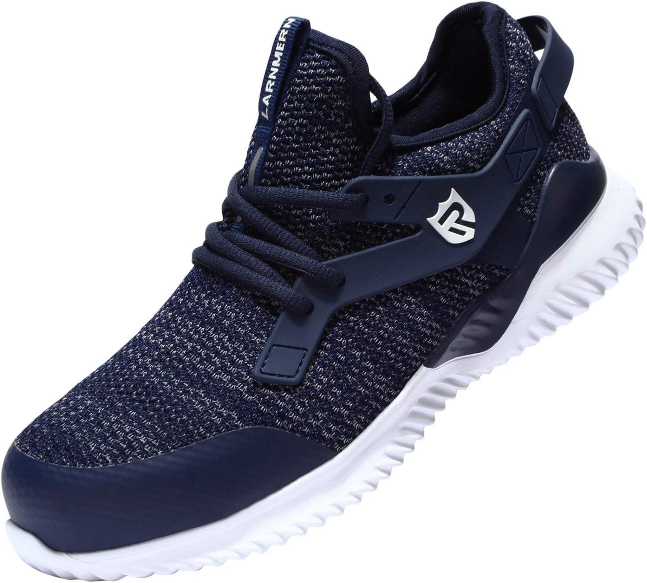 QINGMM Zapatos Indestructibles para Los Hombres, A Prueba De Pinchazos Seguridad En El Trabajo Zapatillas De Deporte, Anti-Sensacional No Slip Zapatos De Acero del Dedo, Industrial,Azul,45 EU: Amazon.es: Hogar