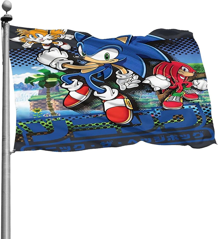 Dawiine Sonic The Hedgehog Garden Flag Home Farmhouse Yard Decor House Indoor Outdoor Flags 4x6 Ft-Decorative Flag