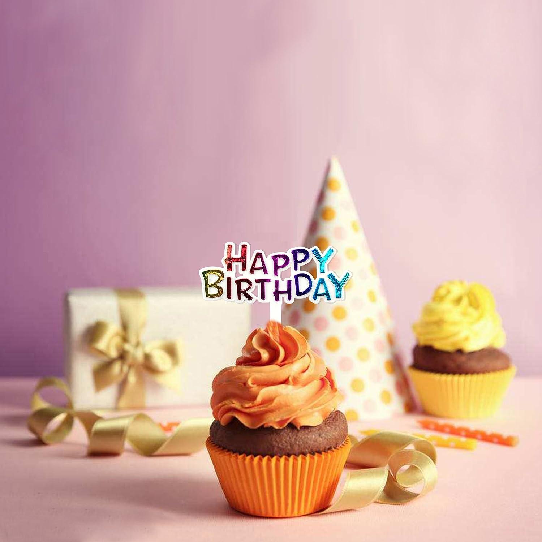 Awe Inspiring Amazon Com Colourful Mini Plastic Happy Birthday Cupcake Cake Funny Birthday Cards Online Eattedamsfinfo