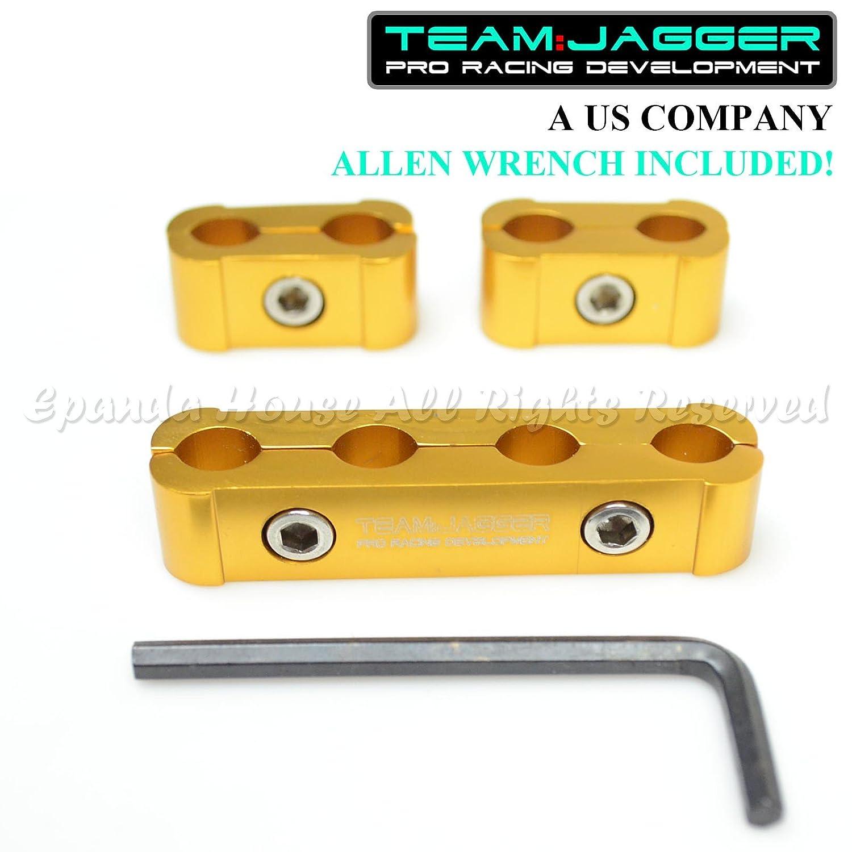 KDM Billet Aluminio Motor para bujías separador de cables oro EE. UU.: Amazon.es: Coche y moto