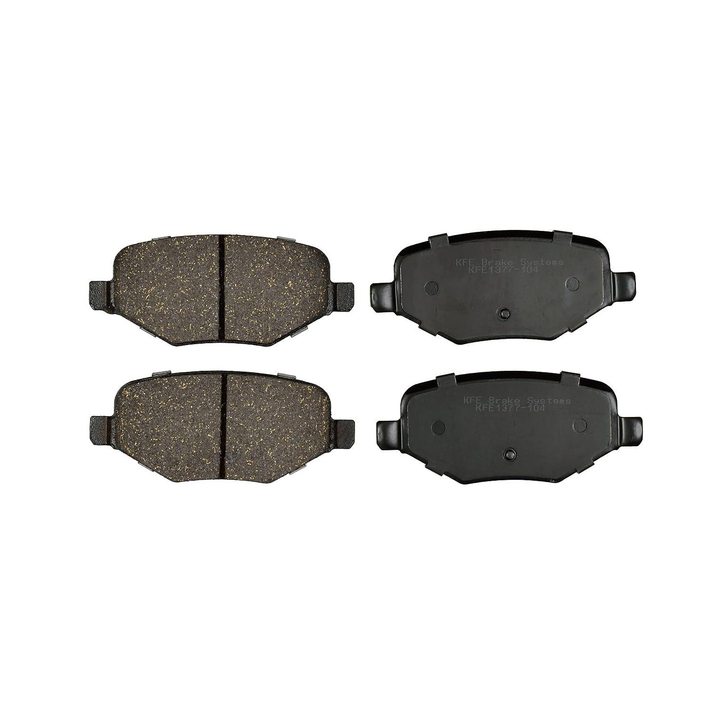 KFE Ultra Quiet Advanced Premium Ceramic REAR Brake Pad Set KFE1377-104 KFE Brake Systems