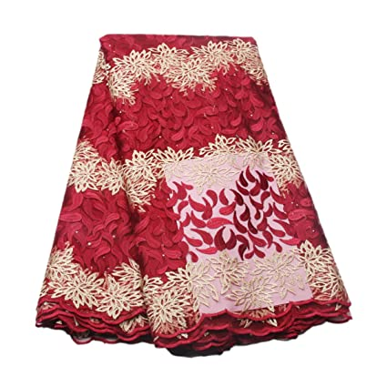 Free Shipping Nigerian Lace For Wedding 2017 For Sewing Dress French Net Lace Cheap High Quality French Lace With Stones Apparel Sewing & Fabric Arts,crafts & Sewing