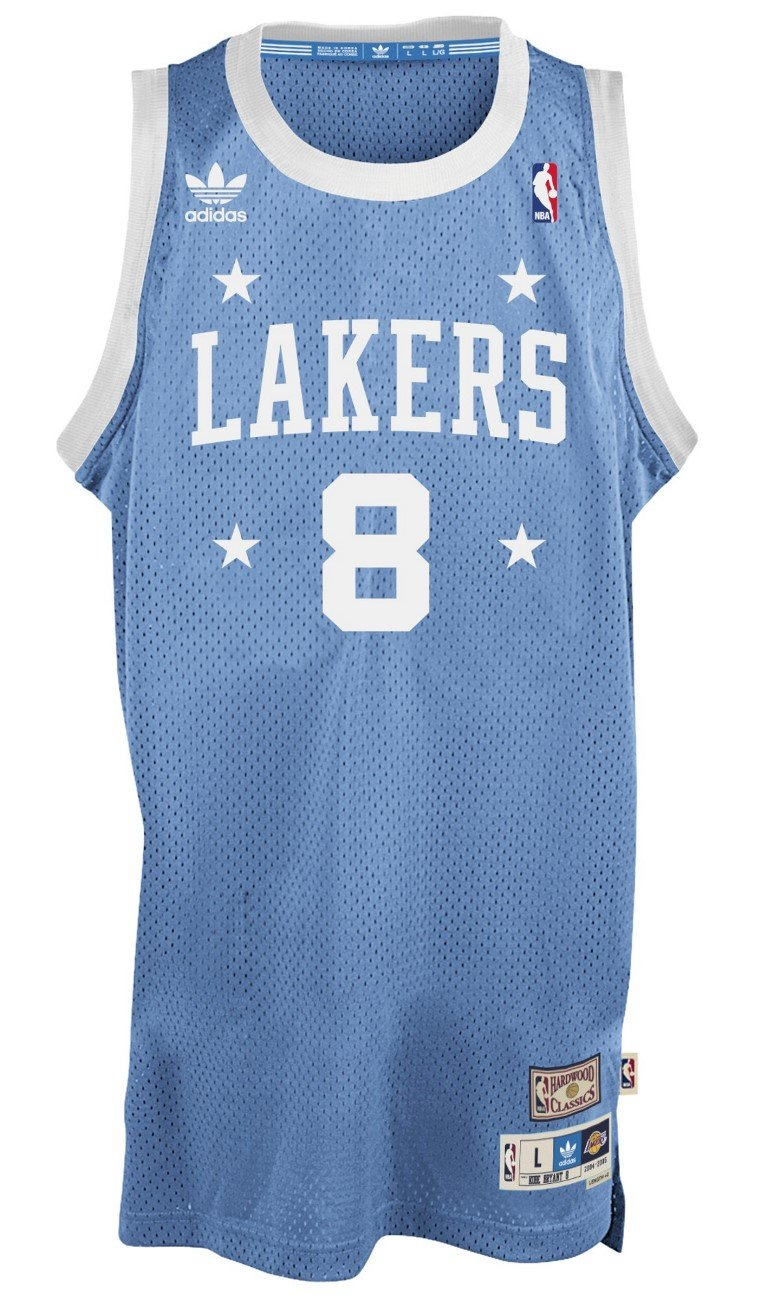 buy popular 3fb99 75485 adidas Kobe Bryant Los Angeles Lakers Light Blue Throwback Swingman Jersey