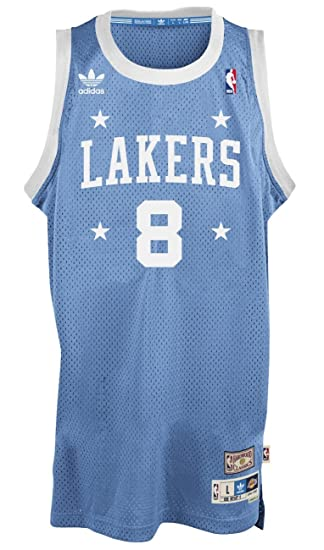 buy popular 65a78 3895b adidas Kobe Bryant Los Angeles Lakers Light Blue Throwback Swingman Jersey