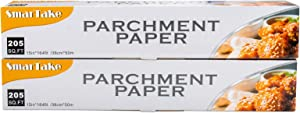 SMARTAKE Parchment Paper, 2 Boxes of 15 in × 164 ft (410 Sq. Ft Total) Non-Stick Baking Parchment Roll, Baking Pan Liner for Kitchen, Air Fryer, Steamer, Cooking Bread, Cookies and More, White