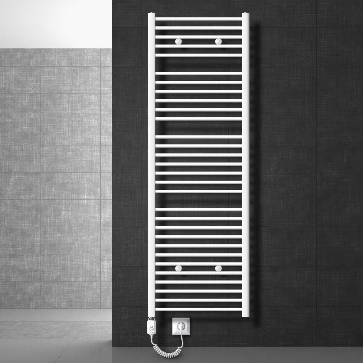 300 x 1800 mm 900W Radiador de dise/ño moderno ECD Germany Radiador toallero electrico