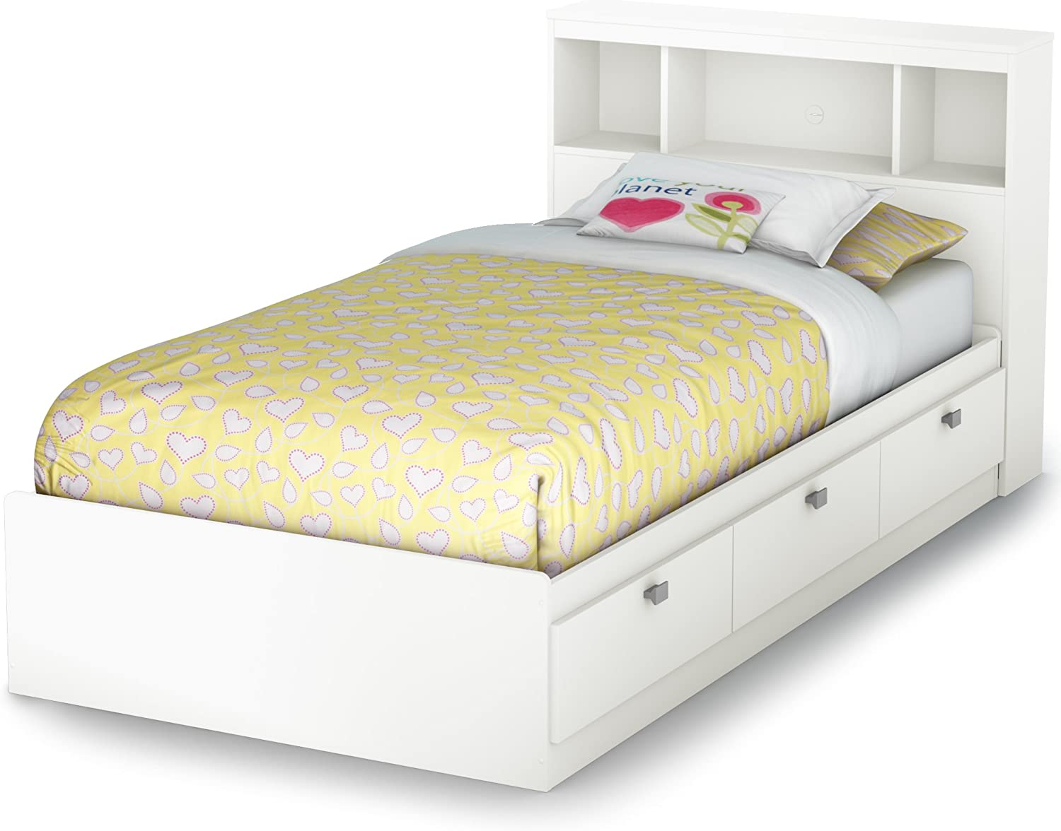Amazon Com South Shore Spark Twin Storage Bed And Bookcase