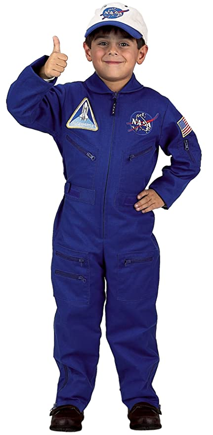 Aeromax Jr. NASA Flight Suit Blue with Embroidered Cap and official looking patches  sc 1 st  Amazon.com & Amazon.com: Aeromax Jr. NASA Flight Suit Blue with Embroidered Cap ...