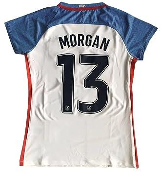 2016 - 2017 Alex Morgan # 13 USA Camiseta Nacional de la Mujer ...