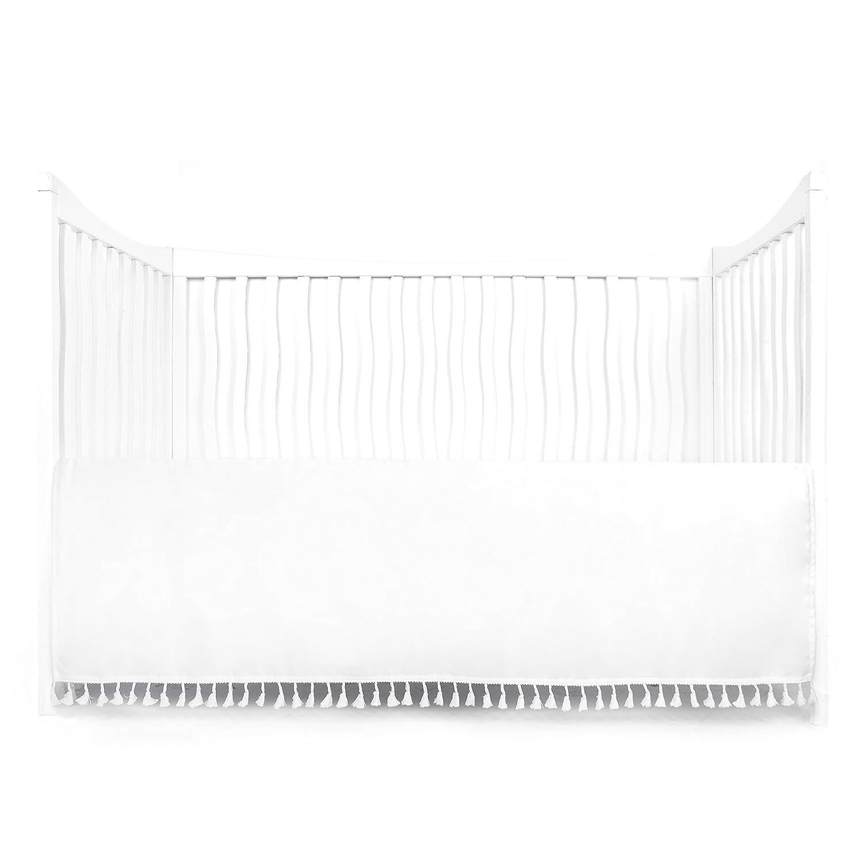 Grey Tadpoles Microfiber Crib Skirt with Tassel