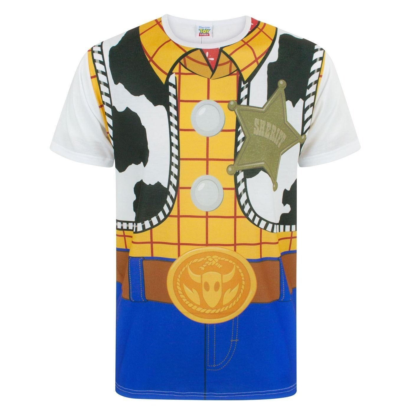 55f09f80 Disney Toy Story Woody Costume Men's Character Outfit T-Shirt S - XXXL:  Amazon.co.uk: Clothing