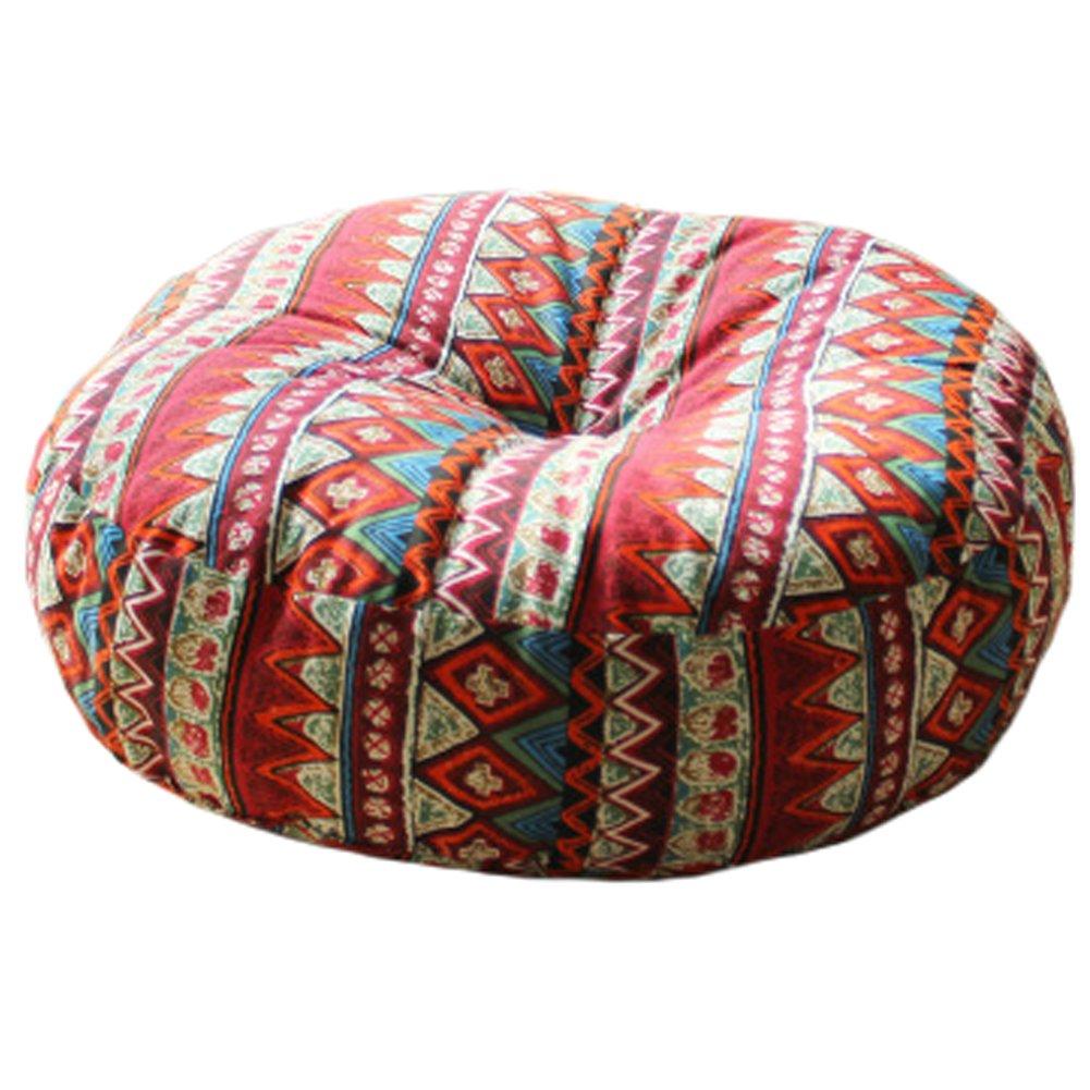 Blancho Bohemian Style Soft Round Seat Cushion Chair Pad Floor Cushion Pillow, Red Blancho Bedding