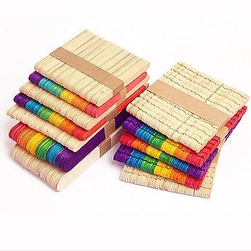 Fuhaoo 200 Stuck Diy Holzspatel Holz Stabchen Basteln Sticks Craft
