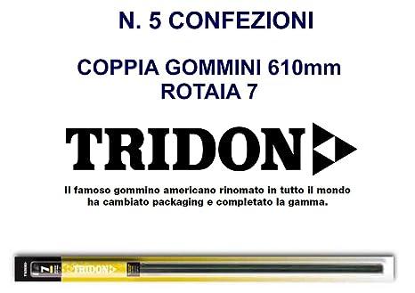 N. 5 paquetes de recambio de escobillas limpiaparabrisas Refill Tridon 610 serie 7