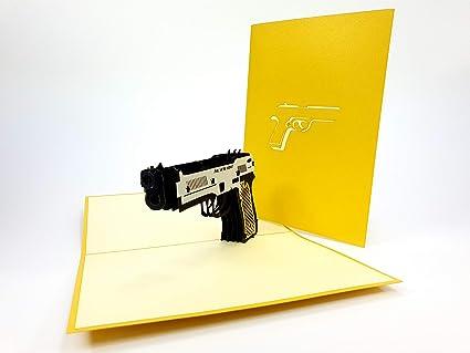 PopUp-Cards - Tarjetas de felicitación 3D con diseño de cazador de ...