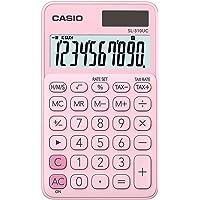 Casio SL-310UC-PK 10-stelliges LC-Display mit Rechenbefehl-Anzeige, 0.8 zehn 7 zehn 11.8 cm, in zehn Farbvarianten