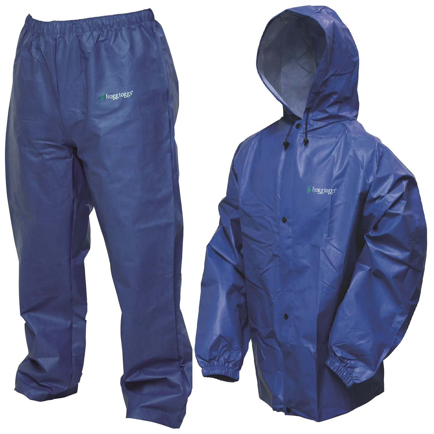 Royal blue frogg toggs pro lite rain suit medium large for Rain suits for fishing
