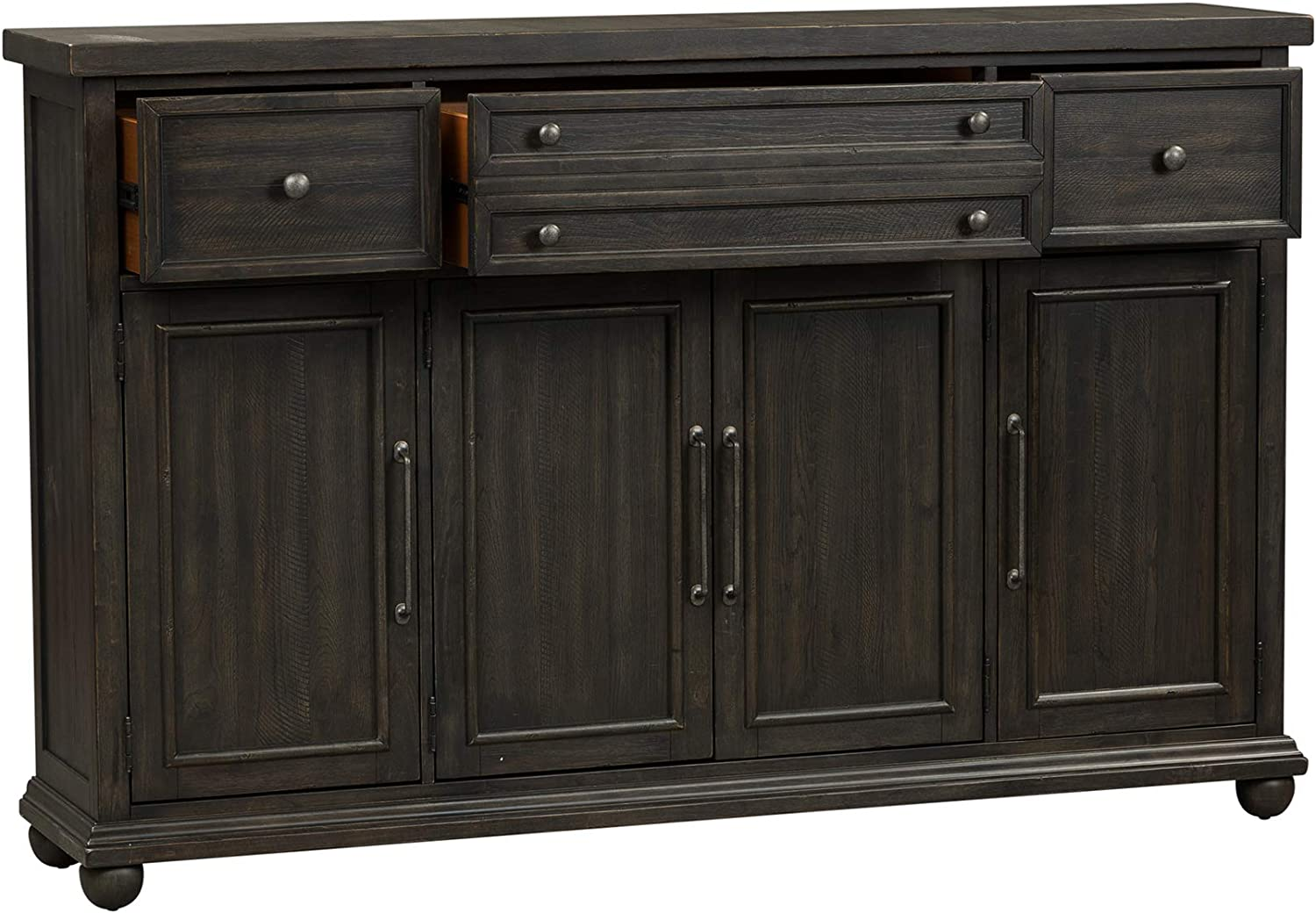 Amazon Com Liberty Furniture Industries Harvest Home Hall Buffet W72 X D15 X H46 Black Buffets Sideboards