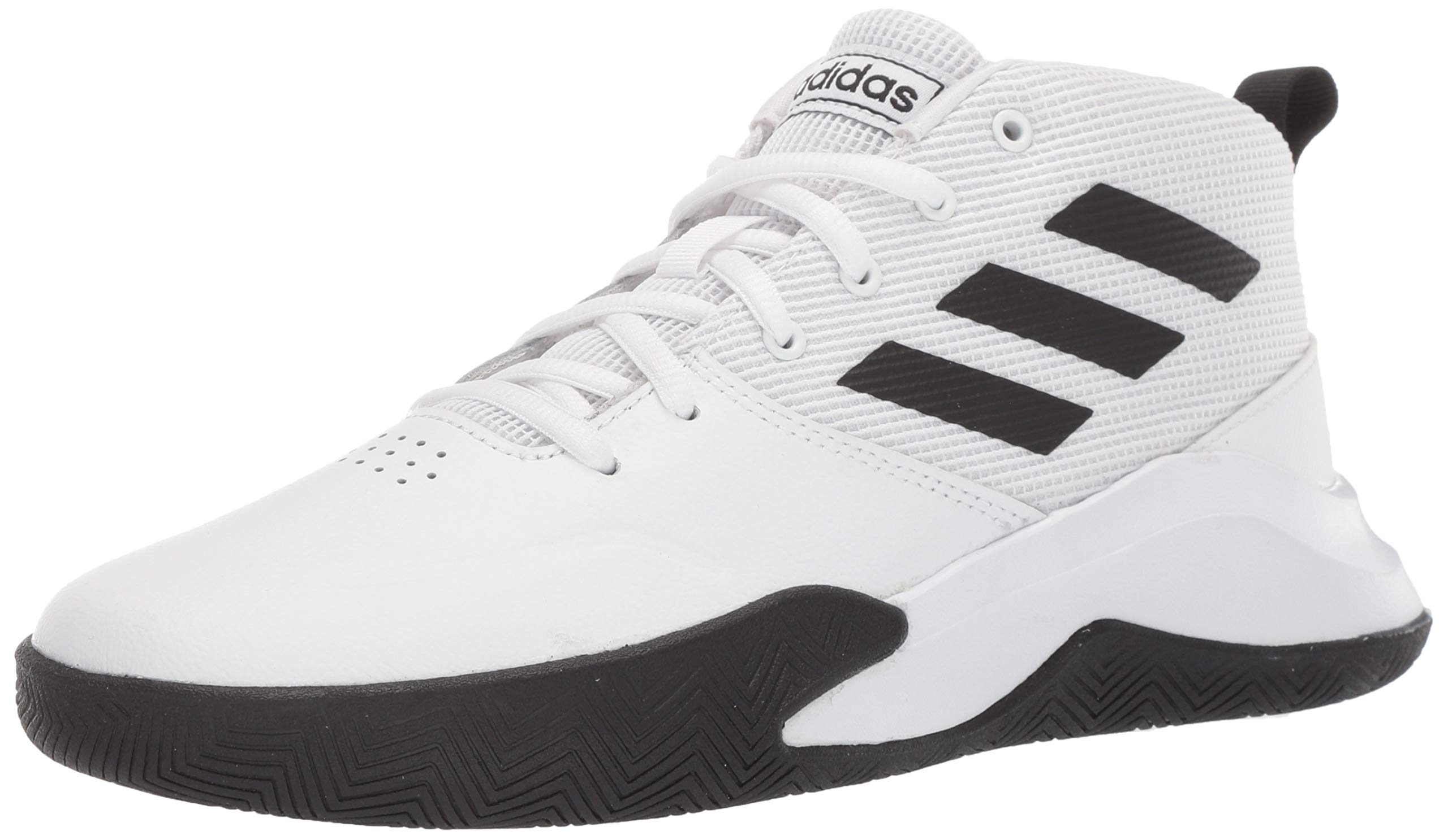 adidas Unisex OwnTheGame Wide Basketball Shoe, Black/White, 5.5 W US Big Kid
