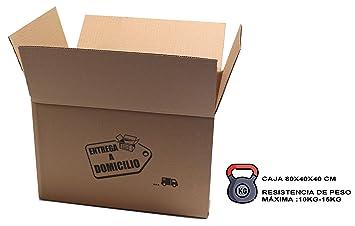 Chely Siglo Cajas mudanza grandes - 80x40x40 cm(Pack de 6 ...