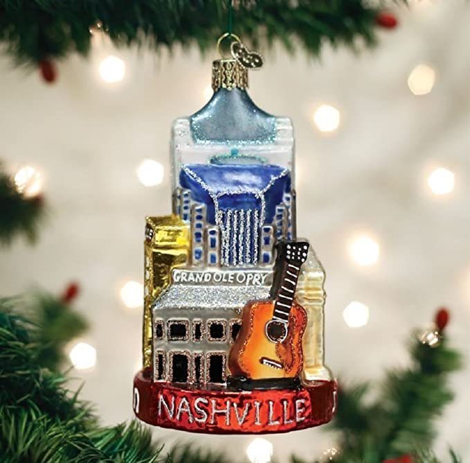 Amazon.com: Old World Christmas Glass Blown Nashville Ornament: Home &  Kitchen - Amazon.com: Old World Christmas Glass Blown Nashville Ornament: Home