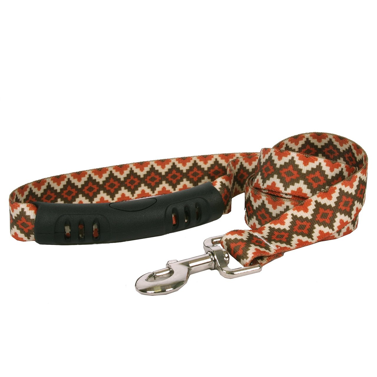 Yellow Dog Design Aztec Sand Ez-Grip Dog Leash with Comfort Handle 1'' Wide and 5' (60'') Long, Large