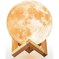 Ehobroc 5.9 Inch 3D Printing Moon Globe Lamp (Cool/Warm White and Yellow)