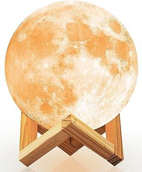 Ehobroc 5.9 Inch 3D Printing Moon Globe Lamp