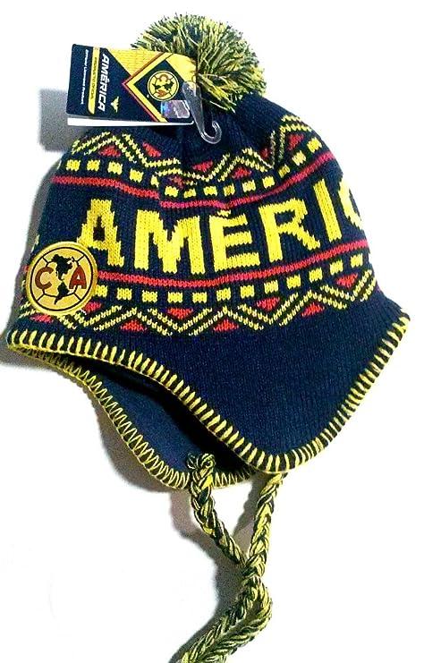 Amazon.com  Club America Peruvian Soccer Blue Beanie Ski Hat  Sports    Outdoors 80ae25863