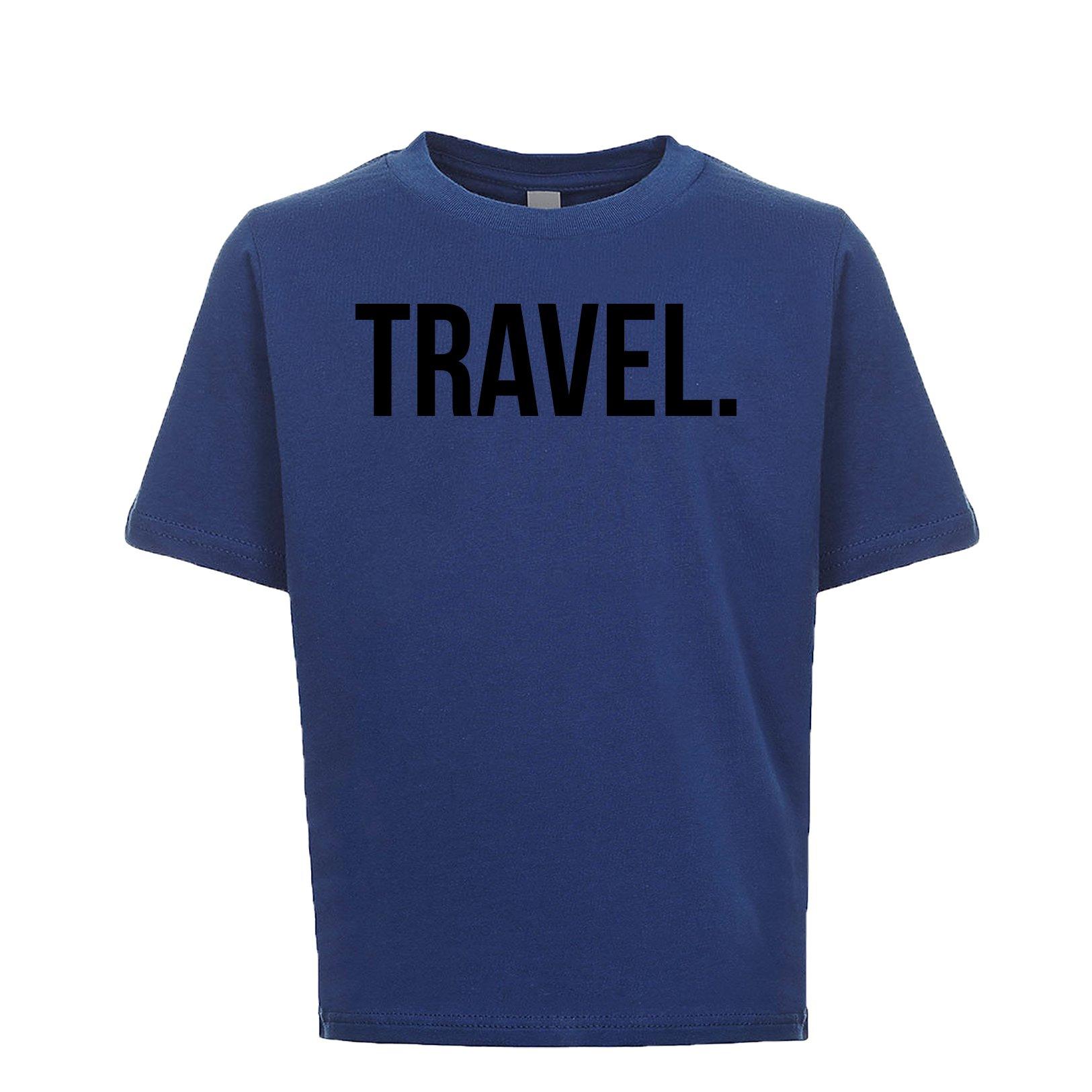Travel Unisex Kids Tee Royal Medium