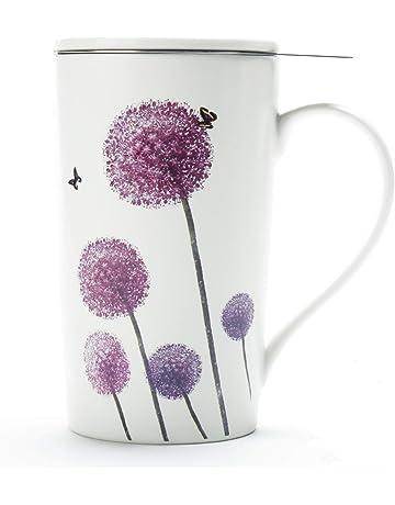 Tasse à thé (510ML) avec filtre et couvercle, ustensiles de cuisine de  voyage a5db8ecd285d