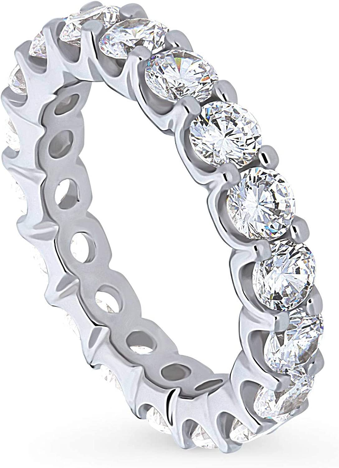BERRICLE Rhodium Plated Sterling Silver CZ Large-scale sale Popular overseas Annive Cubic Zirconia