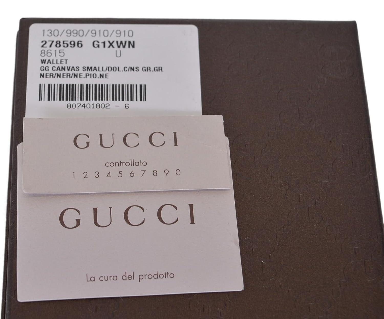 6cec776db4dc Gucci Men's Smooth Black Canvas Web Tab GG Guccissima Bifold Wallet:  Amazon.ca: Clothing & Accessories