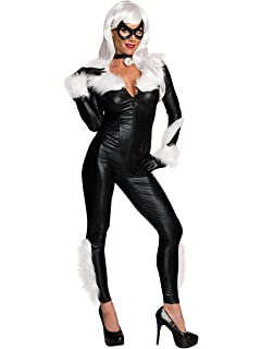Amazon Com Black Cat Cosplay Costume Symbiote Black Cat Suit