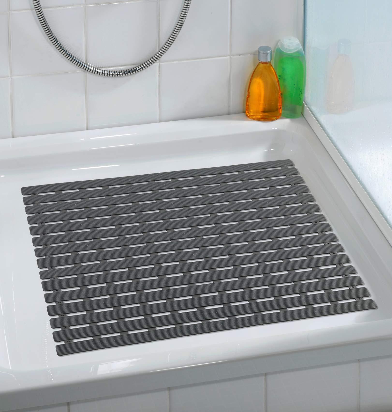 WENKO 23125100 Shower mat Arinos, 21.3 x 21.3 inch, Grey by WENKO
