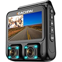 EACHPAI 3.0 LCD 1080P Full HD Dual Dash Camera with Audio for Uber Lyft Taxi
