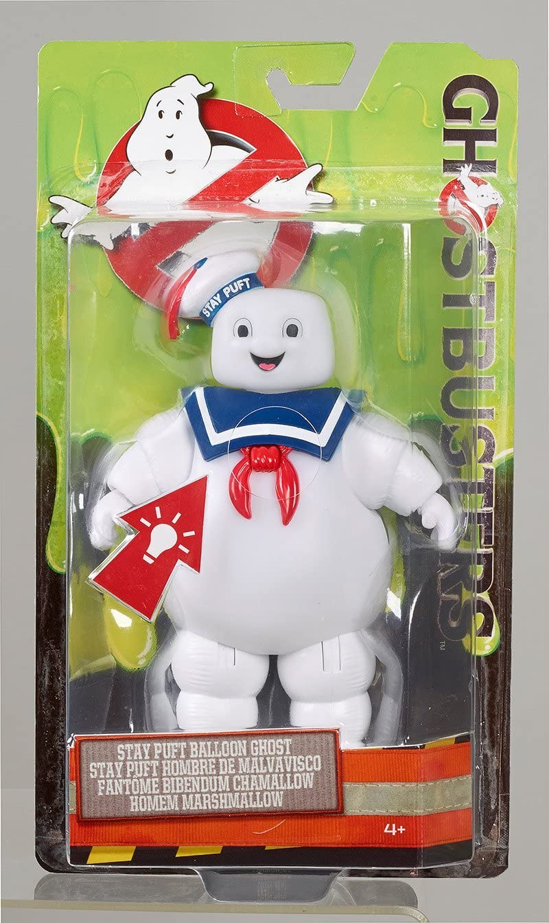 "GHOSTBUSTERS STAY PUFT MARSHMALLOW MAN BALLOON ANGRY BURNT 6/"" LIGHT-UP FIGURE"