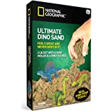 National Geographic Ultimate Dinosaur Play Sand - 900 Grams of Sand, 6 Molds, 6 Figures and Activity Tray