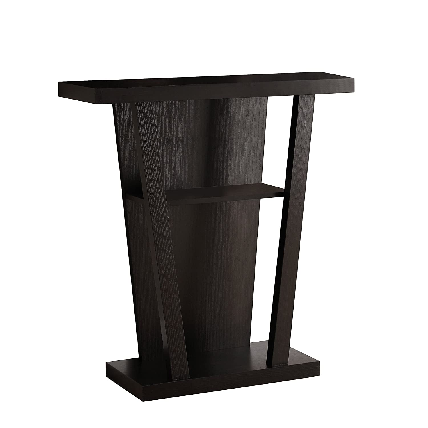 Cappuccino Finish Monarch Specialties I 2453 Accent Table 32  L Hall Console, Dark Taupe