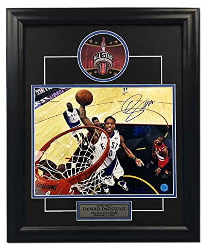 Demar Derozan Toronto Raptors Autographed 2016 All Star Game 19x23 Frame 9f42a4232