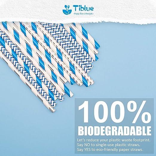 Amazon.com: 100 pajitas de papel biodegradables – pajitas ...