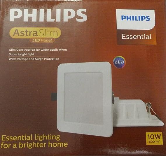 reputable site 020e4 e2547 Philips AstraSlim 10 watts Square LED Panel Light (Warm White)
