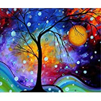 5D Diamond Painting by Number Kits, Full Drill DIY Crafts & Sewing Cross Stitch Wall Stickers for Living Room Decoration