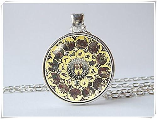 Calendario Antico.Orologio Ciondolo Collana Calendario Orologio Antico