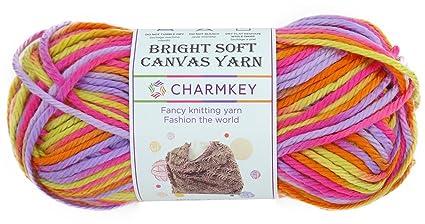charmkey lona suave y brillante hilo 4 tamaño mediano autoadhesivo Striping Lustroso 100% acrílico hilo