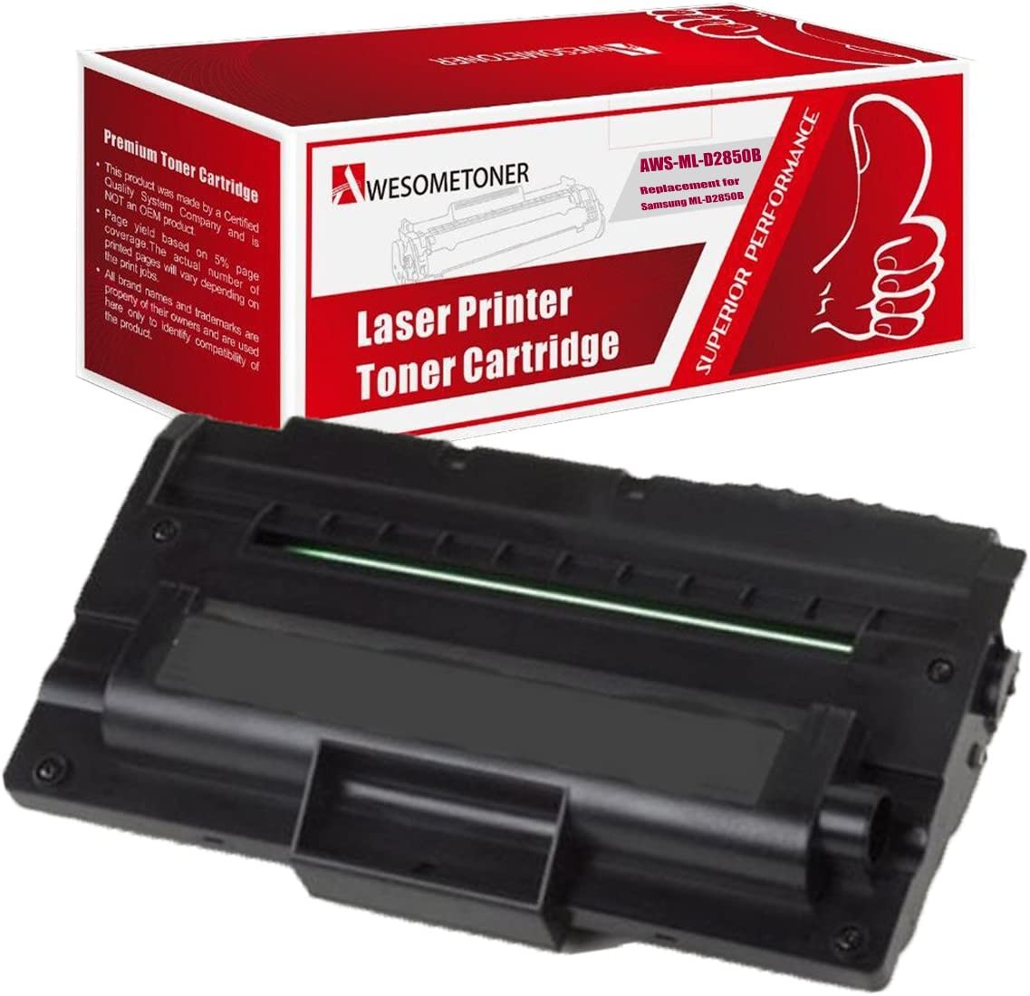 Awesometoner Compatible Toner Cartridge Replacement for Samsung ML-D2850B use with ML-2851ND Black, 1-Pack