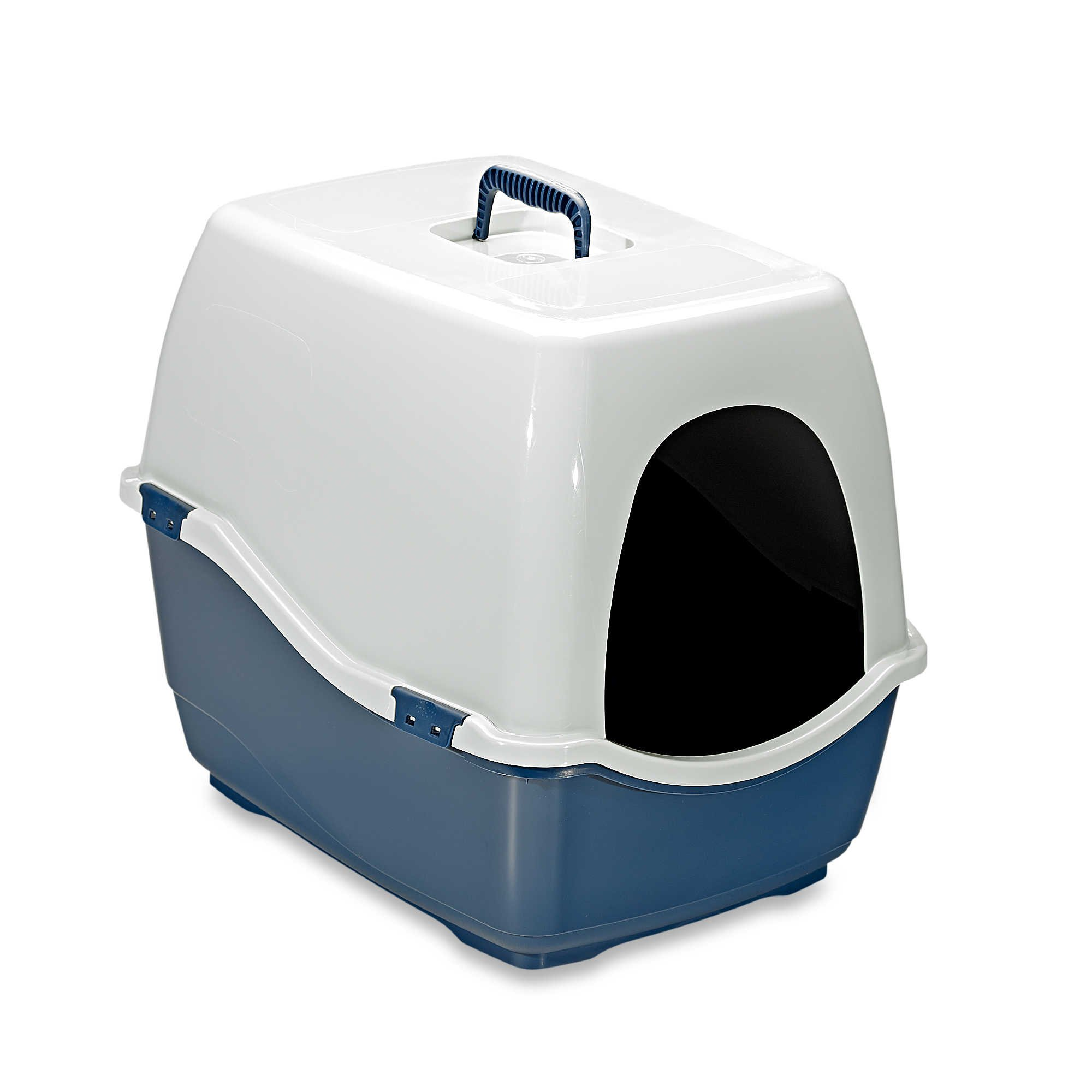 Marchioro Bill Eco Enclosed Extra-Large Cat Litter Pan in Blue
