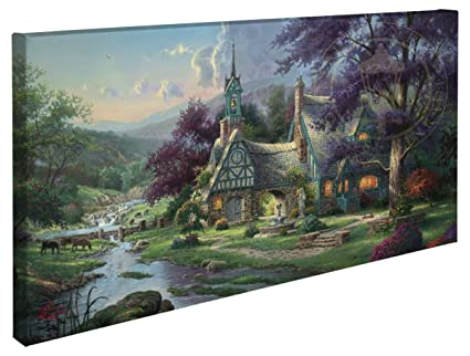 amazon com clocktower cottage thomas kinkade 16 x 31 gallery rh amazon com