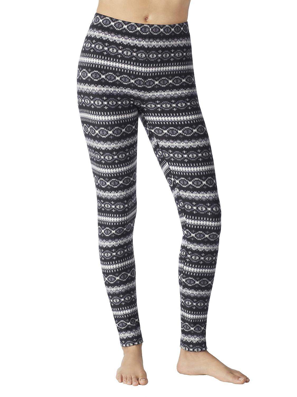 f91087e92fe29 Cuddl Duds ClimateRight Women's Stretch Fleece Warm Underwear Leggings/Pants  at Amazon Women's Clothing store: